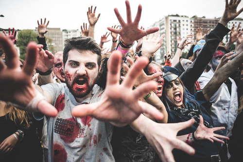 hire a group of zombies for Halloween
