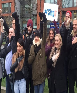 hire a group of people in Glasgow