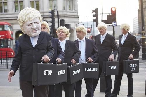 rent a crowd of Boris Johnsons