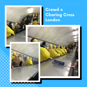Crowd @ Charing Cross London